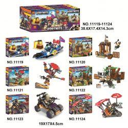Bela 11119 11120 11121 11122 11123 11124 Lari 11119 11120 11121 11122 11123 11124 Xếp hình kiểu Lego FORNITE Fortress Night 6 Small Scenes Đêm pháo đài 6 cảnh nhỏ gồm 6 hộp nhỏ