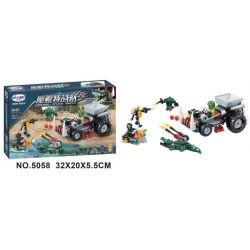 Winner 5058 Xếp hình kiểu Lego SWAT SPECIAL FORCE Crocodile Special Forces Magic Crocodile 5058 Đội đặc Biệt Quỷ 5058 183 khối