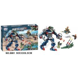 Winner 5061 Xếp hình kiểu Lego CROCODILE SPECIAL FORCES Magic Crocodile Team Magicman Fighters Quỷ Cá Sấu Chiến Tranh Cơ Thú 6 khối