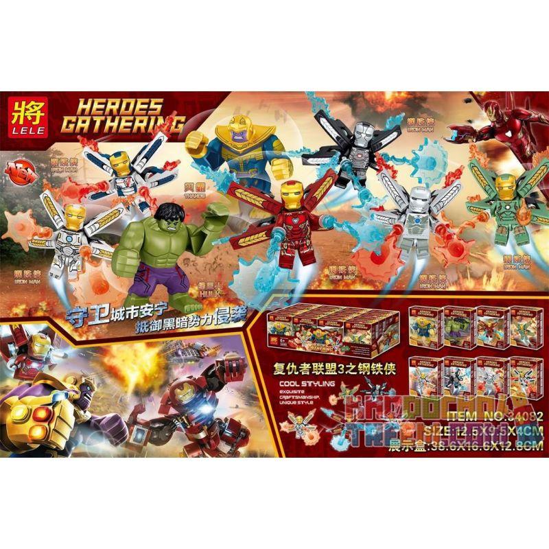 LELE 34082 Xếp hình kiểu Lego SUPER HEROES Heroes Gathering Avengers 3 Iron Man 8