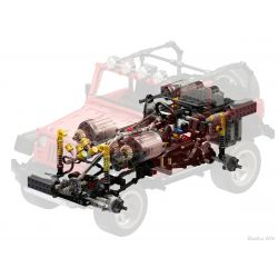 LIN07 0018 MOULDKING 13124 13124D Xếp hình kiểu Lego Technic TECHNIC Jeep Wrangler Rubicon Remote Control Điều khiển từ xa Jeep Wrangler Rubicon gồm 2 hộp nhỏ 2598 khối điều khiển từ xa