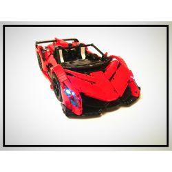 HAPPY BUILD 1003 LIN07 0013 QIZHILE 23019 23023 Xếp hình kiểu Lego TECHNIC Lamborghini Poison gồm 2 hộp nhỏ 2652 khối điều khiển từ xa