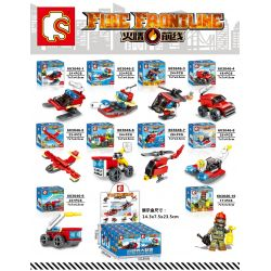 SEMBO 603046 603046-1 603046-10 603046-2 603046-3 603046-4 603046-5 603046-6 603046-7 603046-8 603046-9 Xếp hình kiểu Lego FIRE RESCURE Fire Frontline 10 Types Of Fire Boats, Helicopters, And Heavy Fi