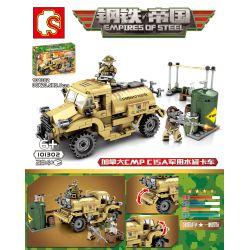 SEMBO 101302 Xếp hình kiểu Lego EMPIRES OF STEEL Steel Empire Canada CMP C15A Military Jug Truck Xe Bồn Chở Nước Quân Sự CMP C15A Của Canada 284 khối