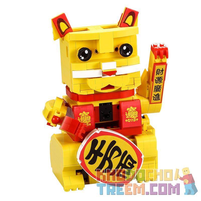 DOUBLEE CADA C51037 51037 Xếp hình kiểu Lego TECHNIC Lucky Cat Con Mèo May Mắn 525 khối