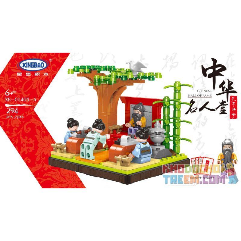 XINGBAO XB-01403A 01403A XB01403A Xếp hình kiểu Lego MODULAR BUILDINGS Confucius Lectures Bài giảng Khổng Tử