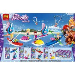 LELE 37099 Xếp hình kiểu Lego FRIENDS Seaside Vacation 8 Types Kỳ nghỉ bên bờ biển 8 kiểu