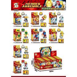 SHENG YUAN SY 1235 Xếp hình kiểu Lego SUPER HEROES Electroplating Iron Man Minifigure 8 Styles Mạ điện Iron Man minifigure 8 kiểu