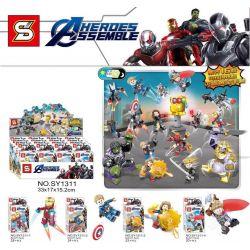 SHENG YUAN SY SY1311 1311 Xếp hình kiểu Lego SUPER HEROES Avengers 4 Minifigure 16 Models Avengers 4 minifigure 16 mô hình