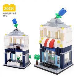DR.LUCK 2310 WANGE 2310 Xếp hình kiểu Lego MINI MODULAR Flower Shop Mini Street View-Cửa hàng hoa 203 khối