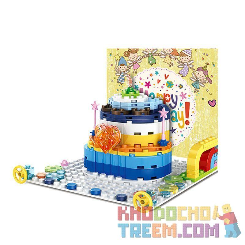 WANGE 2100 Xếp hình kiểu Lego SEASONAL Birthday Card Thiệp sinh nhật 138 khối