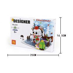 DR.LUCK 2101 WANGE 2101 Xếp hình kiểu Lego CREATOR Merry Christmas! Christmas Pop-up Card Thiệp Giáng Sinh 168 khối