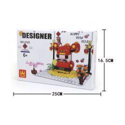 WANGE 2103 Xếp hình kiểu Lego Fortuna Pop-up Card Thẻ pop-up Fortuna 171 khối