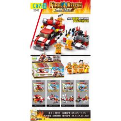 CAYI 2602 2602A 2602B 2602C 2602D Xếp hình kiểu Lego FIRE RESCURE Fire Hero Chi Yan Xiong Ying 4 Types Of High-pressure Water Cannon Trucks, Fire Trucks, Fire Helicopters, Wall Breaking Trucks, Fire M