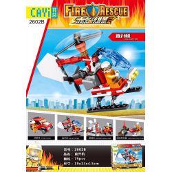 CAYI 2602 2602A 2602B 2602C 2602D Xếp hình kiểu Lego FIRE RESCURE 4 Types Of High-pressure Water Cannon Truck 4 loại xe vòi rồng cao áp gồm 4 hộp nhỏ 314 khối