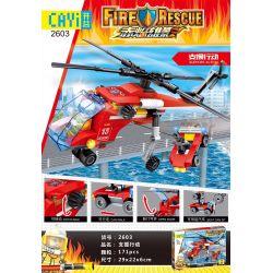 CAYI 2603 Xếp hình kiểu Lego FIRE RESCURE Support Action Hành động hỗ trợ 175 khối