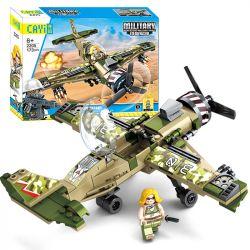 CAYI 2205 Xếp hình kiểu Lego IRON BLOOD MILITARY SPIRIT Iron Blood Military Spirit Single Wing Fighter Tasting Single-wing Fighter Máy Bay Chiến đấu Một Cánh 173 khối