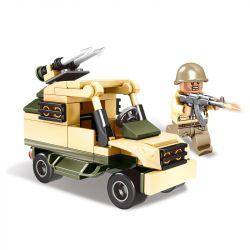 CAYI 2202 Xếp hình kiểu Lego IRON BLOOD MILITARY SPIRIT Iron Blood Military Spirit High-Altitude Gun Tasting Sanlian Artillery Car 4 Combinations 3 Tổ Hợp Pháo Phòng Không 4 Tổ Hợp 350 khối
