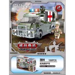 CAYI 2014 Xếp hình kiểu Lego NUCLEAR WAR Nuclear Transition Crisis Battlefield Ambulance Xe Cứu Thương Hiện Trường 199 khối