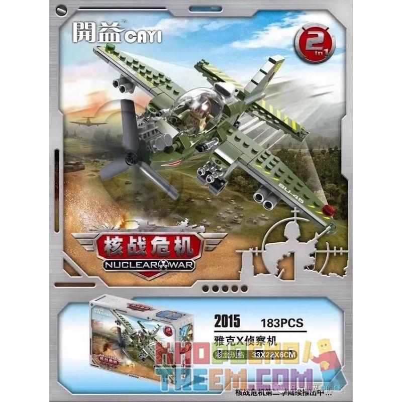 CAYI 2015 Xếp hình kiểu Lego NUCLEAR WAR Yak X Reconnaissance Aircraft Máy bay trinh sát Yak X 183 khối