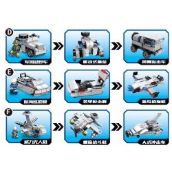 CAYI 2305 Xếp hình kiểu Lego COMBINED DEFORMATION Combined Deformation Aircraft Carrier All-in-one Aircraft Carrier Series Junior Cloud Aircraft Carrier, Flying Swallow Transporter, Titan Destroyer 9