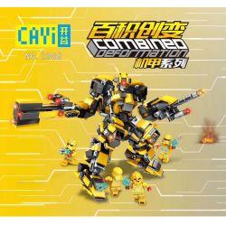 CAYI 2306 Xếp hình kiểu Lego COMBINED DEFORMATION Combined Deformation MECH All-in-one Mechanic Series Reubil, Red Orange Storm, Jian Yu Rijin 9 Mech Series Leibier, Red Orange Storm, Jianyu Thor 9 75
