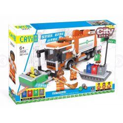 CAYI 3004 Xếp hình kiểu Lego CITY Compressed Garbage Truck Xe ép rác 383 khối