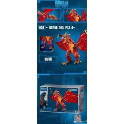 SLUBAN M38-B0786 B0786 0786 M38B0786 38-B0786 Xếp hình kiểu Lego GODZILLA Godzilla King Of The Monsters Rodan Costla 2 Monster King Ratton Ratton. 263 khối