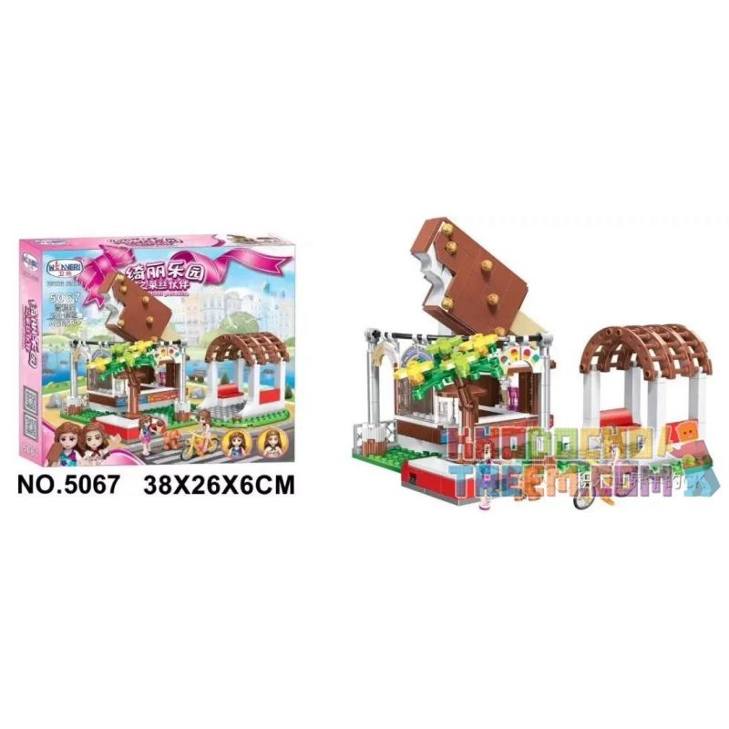 Winner 5067 Xếp hình kiểu Lego FRIENDS Lissee Partner Of Beauty Paradise Ice Cream House Nhà Kem 290 khối
