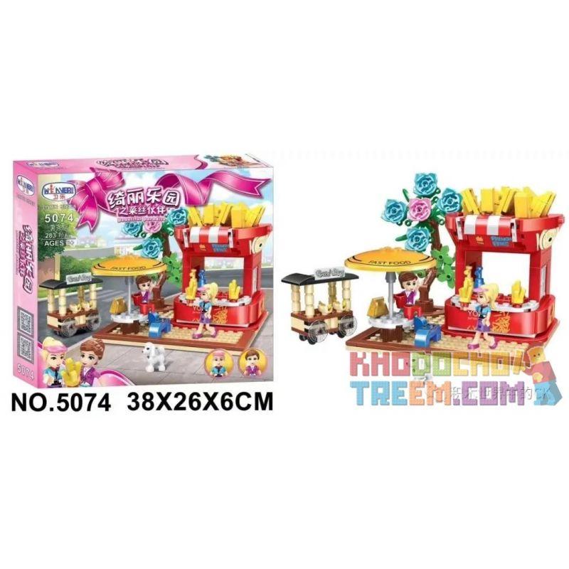 Winner 5074 Xếp hình kiểu Lego FRIENDS Laisi Partner Of Qili Paradise French Fries Shop Cửa Hàng Khoai Tây Chiên 283 khối