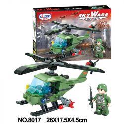 Winner 8017 Xếp hình kiểu Lego SKY WARS Military Helicopter trực thăng quân sự 125 khối