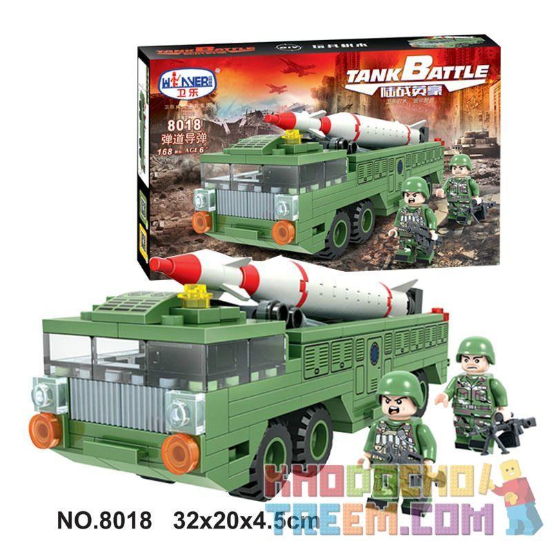 Winner 8018 Xếp hình kiểu Lego TANK BATTLE Ballistic Missile Tên lửa đạn đạo 168 khối