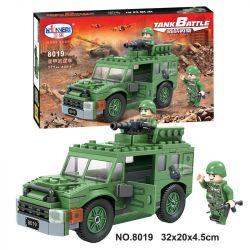 Winner 8019 Xếp hình kiểu Lego TANK BATTLE Armored Patrol Car Xe tuần tra bọc thép 171 khối