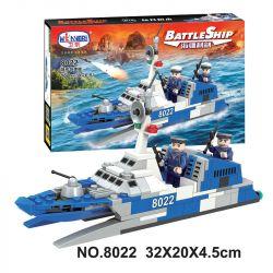 Winner 8022 Xếp hình kiểu Lego BATTLE SHIP Stealth Missile Boat Tàu tên lửa tàng hình 168 khối
