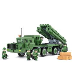 Winner 8104 Xếp hình kiểu Lego TANK BATTLE TankBattle Land War BM30 Self-rocket Tên Lửa Tự Hành BM30