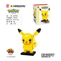Enlighten A0101 0101 Qman A0101 0101 KEEPPLEY A0101 0101 Xếp hình kiểu Lego POKÉMON Pokemon Pokémon Pikachu 116 khối