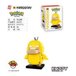 Enlighten A0103 0103 Qman A0103 0103 KEEPPLEY A0103 0103 Xếp hình kiểu Lego POKÉMON Reachable Duck Vịt có thể tiếp cận 136 khối