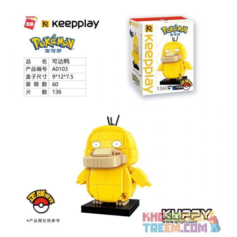 Enlighten A0103 0103 Qman A0103 0103 KEEPPLEY A0103 0103 Xếp hình kiểu Lego POKÉMON Pokemon Pokémon Reachable Duck Vịt Có Thể Tiếp Cận 136 khối