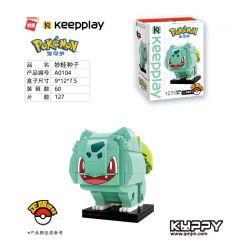 Enlighten A0104 0104 Qman A0104 0104 KEEPPLEY A0104 0104 Xếp hình kiểu Lego POKÉMON Wonder Frog Seed 127 khối