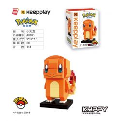 Enlighten A0105 0105 Qman A0105 0105 KEEPPLEY A0105 0105 Xếp hình kiểu Lego POKÉMON Little Fire Dragon Rồng lửa nhỏ 118 khối