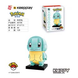 Enlighten A0106 0106 Qman A0106 0106 KEEPPLEY A0106 0106 Xếp hình kiểu Lego POKÉMON Pokemon Pokémon Jenny Turtle Jenny Rùa 129 khối
