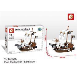 SEMBO SD6202 6202 Xếp hình kiểu Lego ONE PIECE Meri 137 khối