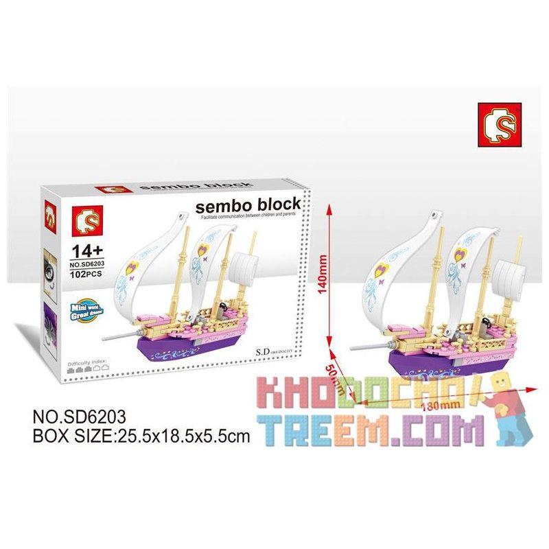 SEMBO SD6203 6203 Xếp hình kiểu Lego FRIENDS Sembo Block Giấc mơ thuyền 102 khối