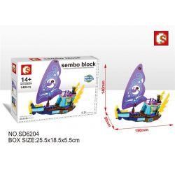 SEMBO SD6204 6204 Xếp hình kiểu Lego FRIENDS Naida's Epic Adventure Ship Con tàu phiêu lưu sử thi của Naida 148 khối