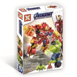 SX 4009 Xếp hình kiểu Lego MARVEL SUPER HEROES Iron Man Anti-Hulk Mech Vs. Hulk Iron Man Anti-Hulk Mech vs. Hulk 320 khối