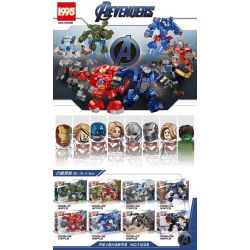 1995 11005 Xếp hình kiểu Lego MARVEL SUPER HEROES Aevengers 8 thợ máy 1312 khối