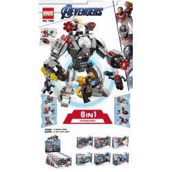 1995 11006 Xếp hình kiểu Lego MARVEL SUPER HEROES Aevengers Gears of War Heavy Weapon Mech Máy bay thu nhỏ 6 loại 450 khối