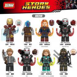 XINH X0258 0258 Xếp hình kiểu Lego MARVEL SUPER HEROES 8 Minifigure Suits 8 bộ đồ minifigure