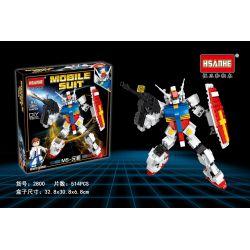 HSANHE 2800 Xếp hình kiểu Lego GUNDAM Mobile Suit Up To Up To MS- CÔ- 514 khối