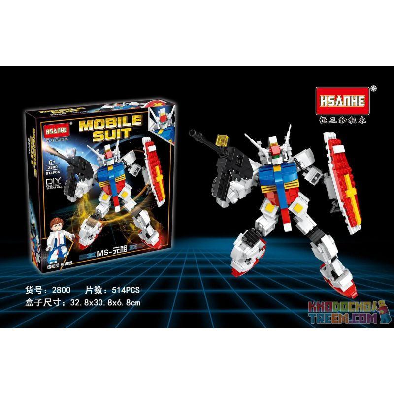 HSANHE 2800 Xếp hình kiểu Lego GUNDAM MS-Original 514 khối